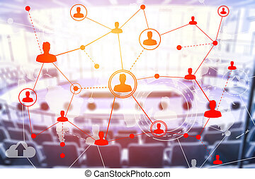 Social networking technologies in a conference hall