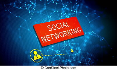 Social networking technology concept