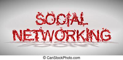 Social networking vulnerability concept. Word destruction...
