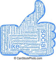 social, nuvem, etiquetas