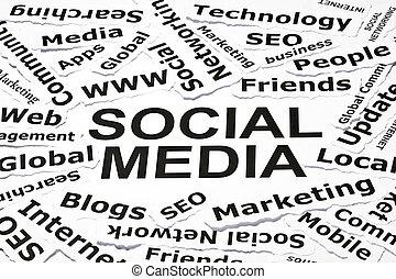 'social, pojęcie, media'