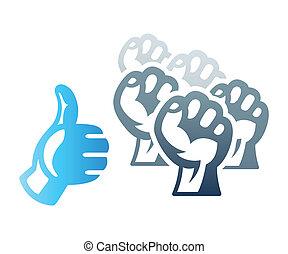 Social protest - Social media inspired protest strike...