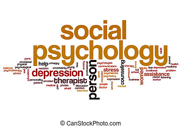 Social psychology word cloud