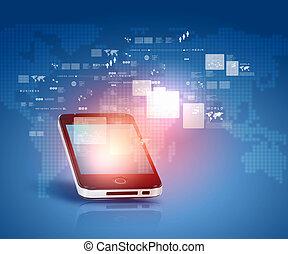 social, réseau, communication