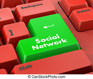social, red