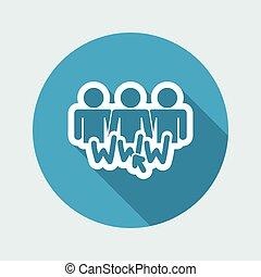 social, rede, ícone