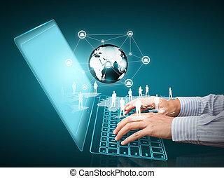 social, rede, estrutura