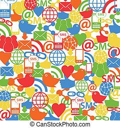 social, rede, fundo