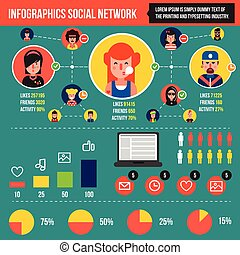 social, rede, infographics