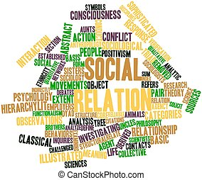 Social relation - Abstract word cloud for Social relation...