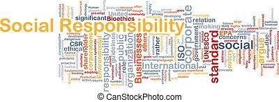 social, responsabilidad, plano de fondo, concepto