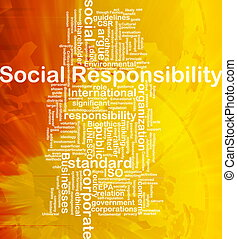 Social responsibility background concept - Background ...