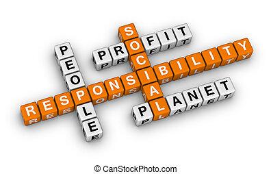 social responsibility (orange-white crossword puzzles series...