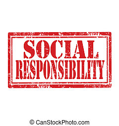 Social Responsibility-stamp - Grunge rubber stamp with text ...