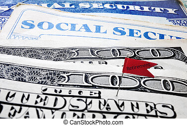 social, retraite, sécurité, drapeau
