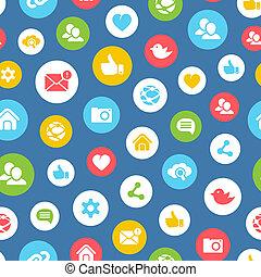 social, seamless, padrão, rede