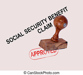 Social Security Claim Approved Stamp Showing Social...