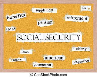 Social Security Corkboard Word Concept - An Social Security...