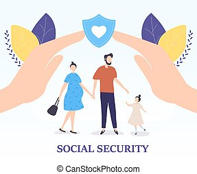 Social Security for a young family concept