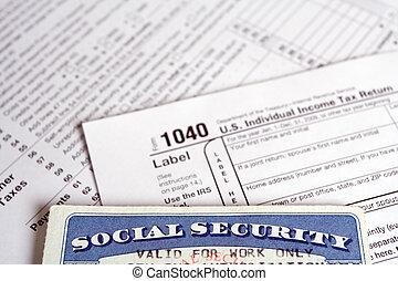 Social Security tax on form 1040