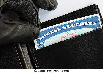 Social Security theft concept of identity theft