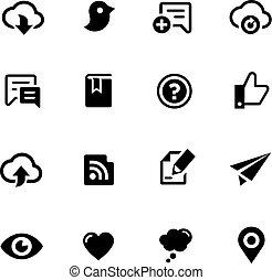 Social Sharing Icons -- Black Series