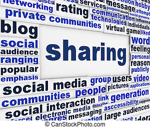 Social sharing message background
