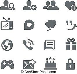 social, signaltjänst, ikonen