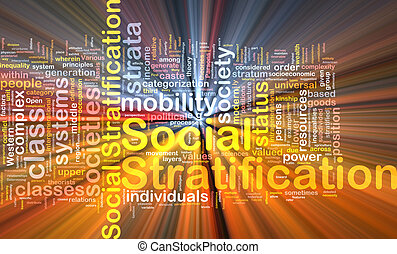 Social stratification background wordcloud concept illustration