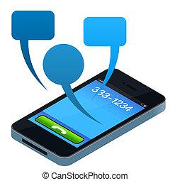 social, téléphone portable
