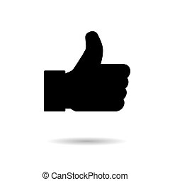 Social thumbs up, ok, like symbol for web. Media button sign, flat design isolated network media