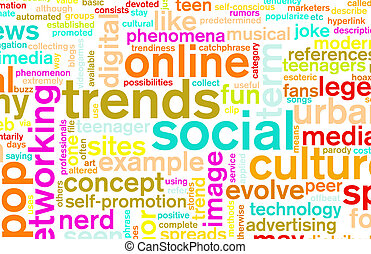 Social Trends Concept As a Abstract Background