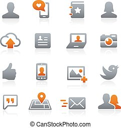 Social Web Icons Graphite - Icons for your digital or print ...