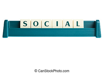 Social word on isolated letters board
