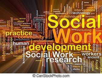 Social work background concept glowing - Background concept...