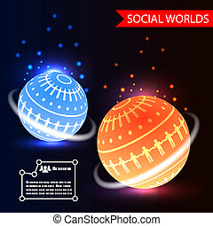 Social Worlds Abstract Background vector