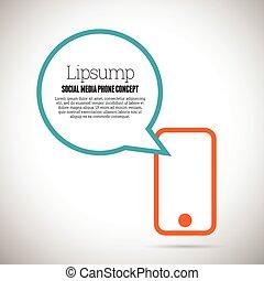 sociale, media, concetto, telefono