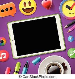 sociale, media, connettere, blog