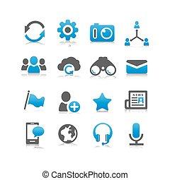 sociale, media, icona