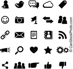sociale, media, icone