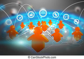 sociale, media, rete, comunicazione