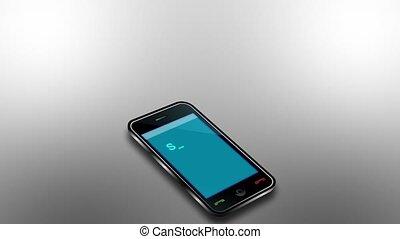 sociale, media, vicino, telefono