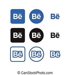 sociale, medier, behance, iconerne