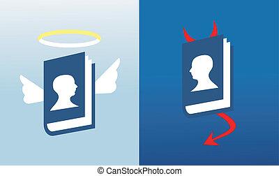 sociale, medier, globalt netværk, bibler
