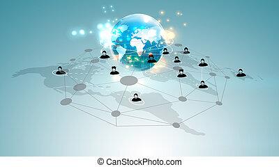 sociale, netværk, baggrund.