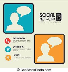 sociale, netværk