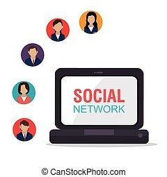 sociale, rete, design.