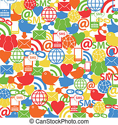 sociale, rete, fondo