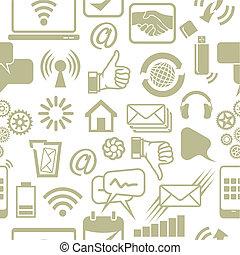 sociale, rete, modello