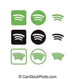 sociale, spotify, medier, iconerne